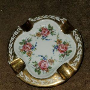 Vintage Limoges France Porcelain Ashtray
